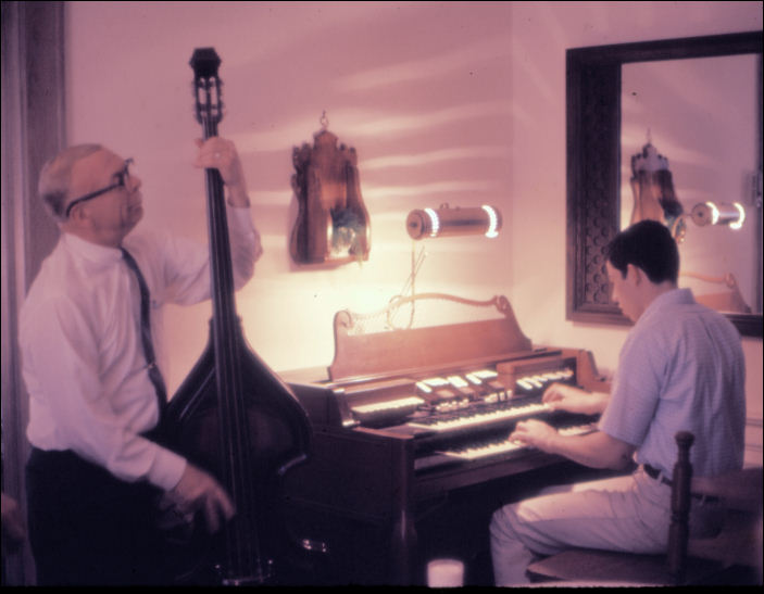 May 1968 - jamming at home with Everett Hull.